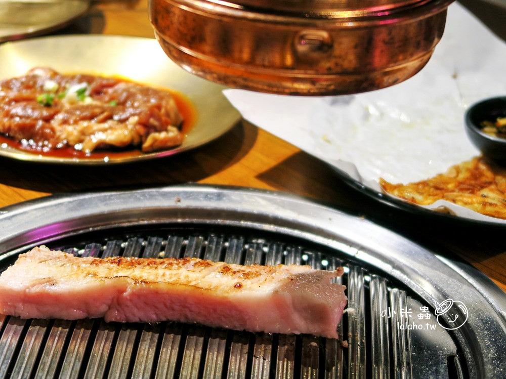 美麗華美食|MEAT LOVE 厚厚的五花肉與香噴噴的帶骨牛小排 橡木炭火韓國烤肉/韓式料理